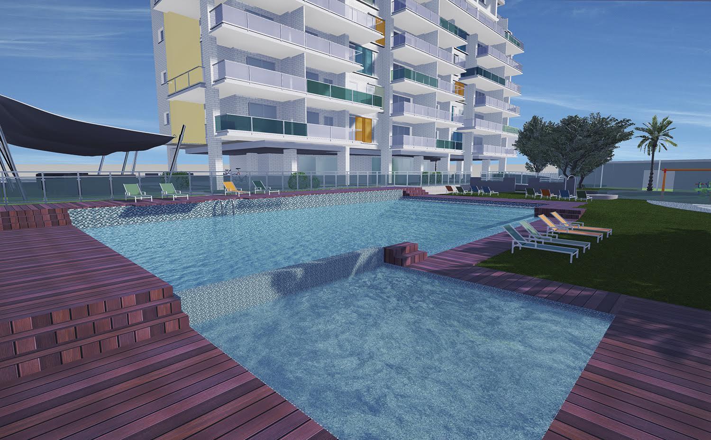 Sale piso en playa de san juan 2 dormitorios obra nueva for Pisos obra nueva alicante