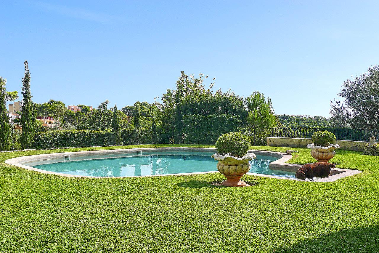 Encantadora villa familiar con piscina y jard n en zona for Piscina y jardin mallorca