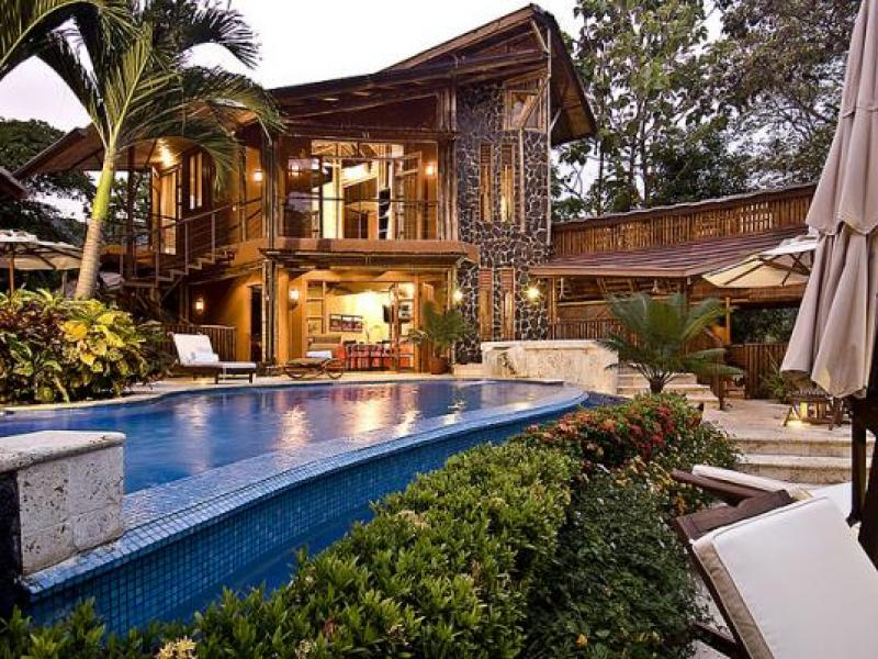 Tropical mansion dominical costa rica offered at for Mansions in costa rica