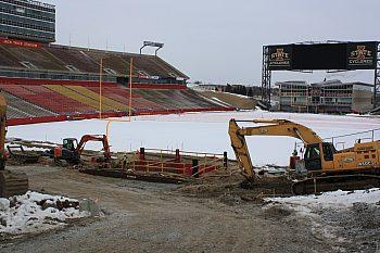 Jack Trice Stadium Slide Rail System