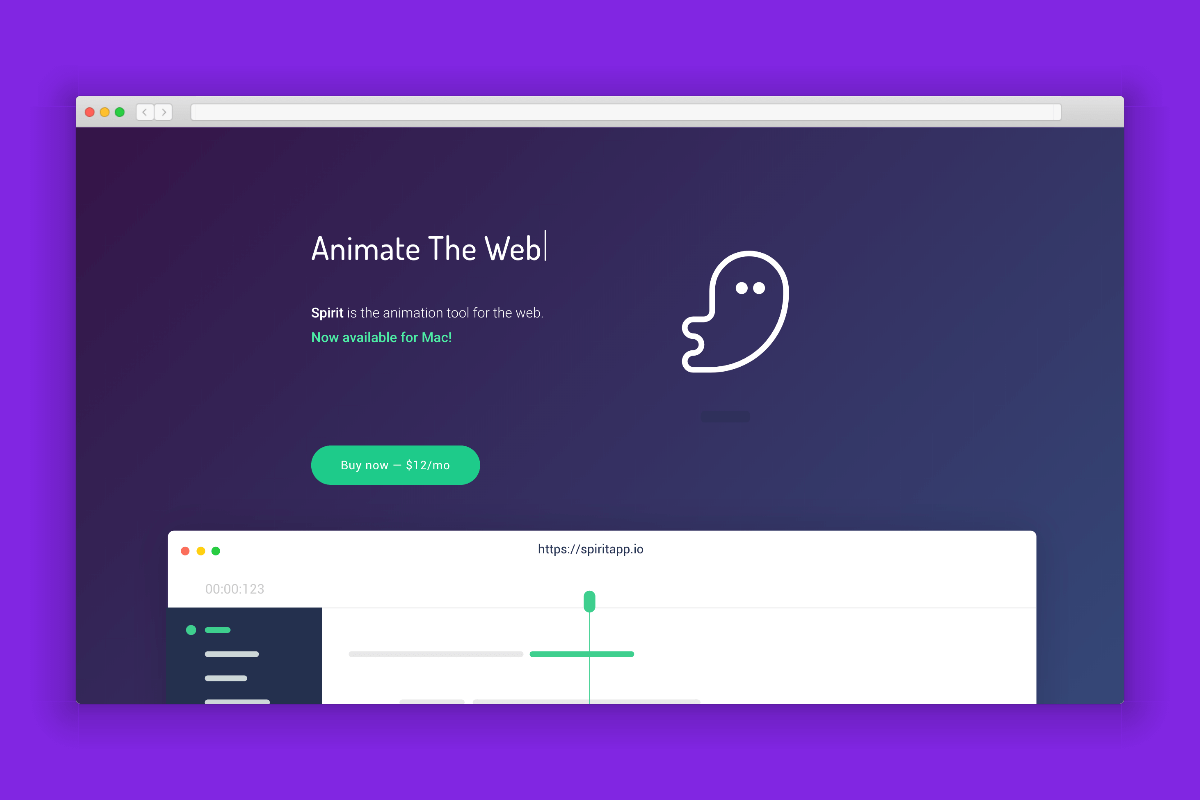 Spirit: An animation tool for the web