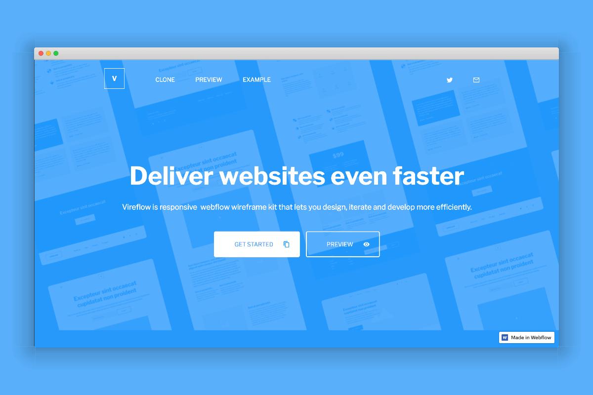Vireflow UI Kit for Webflow - Prototyping