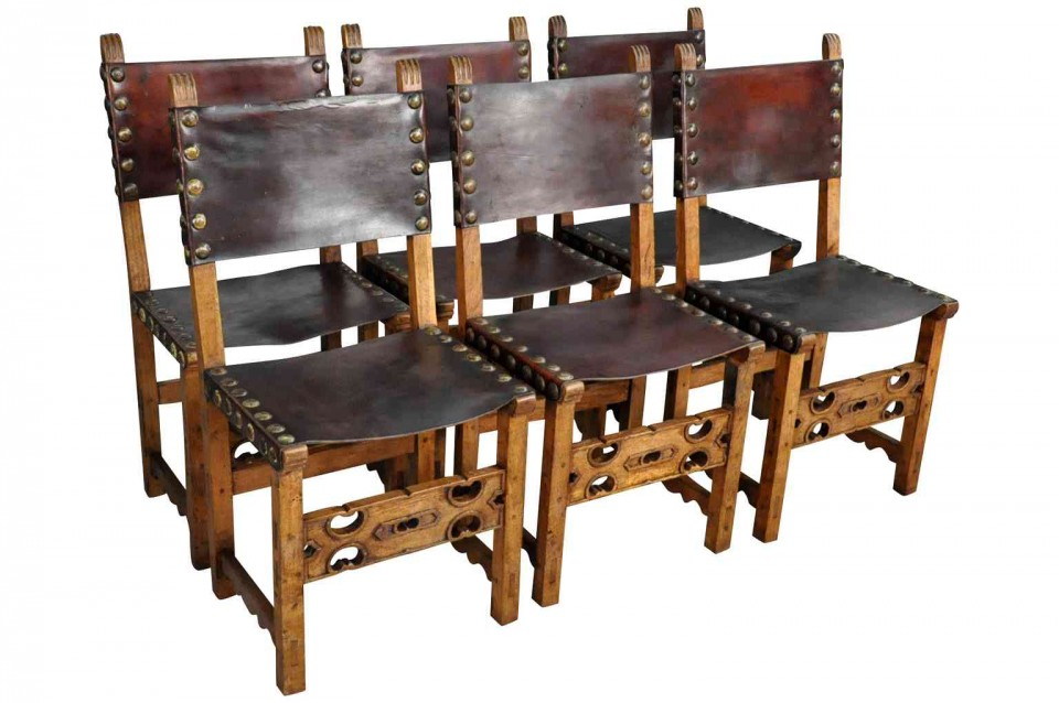 Set of Six Renaissance Style Dining Chairs from Spain T3184  sc 1 st  Provenance Antiques & Provenance Antiques