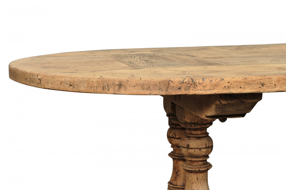 Provenance Antiques - Oval farm table