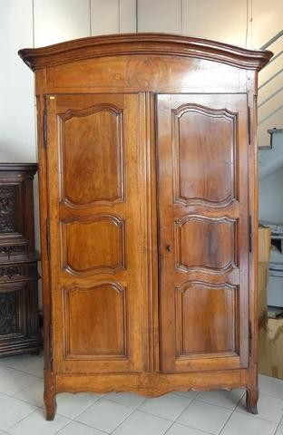 A Stately Late 18th Century French Louis XV Armoire In Walnut. This Very  Handsome Armoire Has Touches Of Marquetry Detailing To The Front   Above  And Below ...