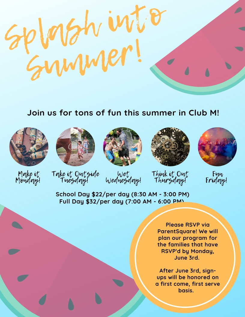 splash into summer with club m fun