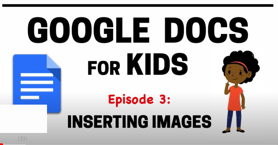 Google Docs for Kids - inserting images