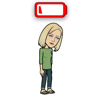 Bitmoji looking down