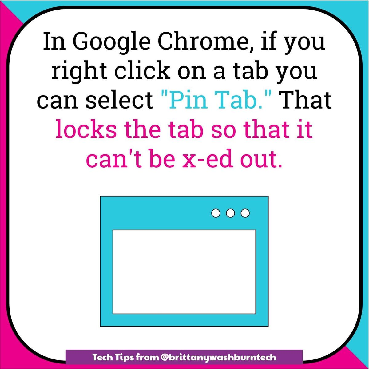 google chrome right click on tab, select pin-tab to lock