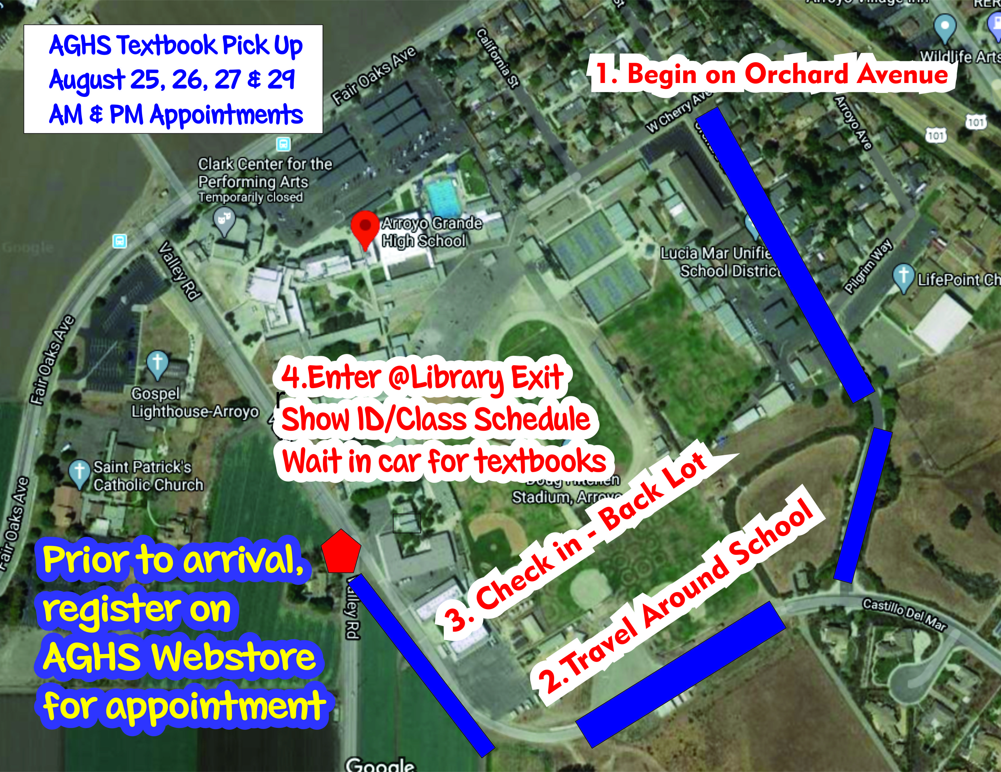 Map for Textbook arrival
