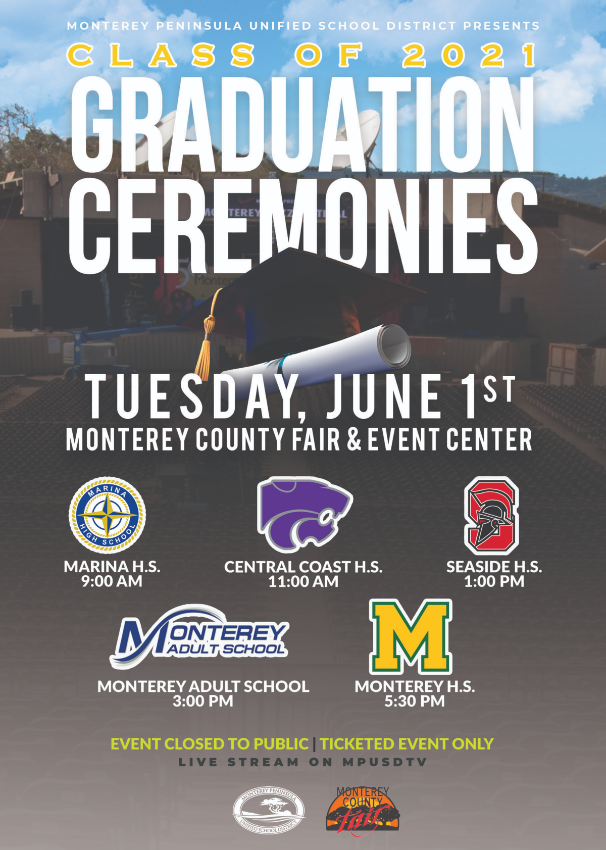 English graduation flyer