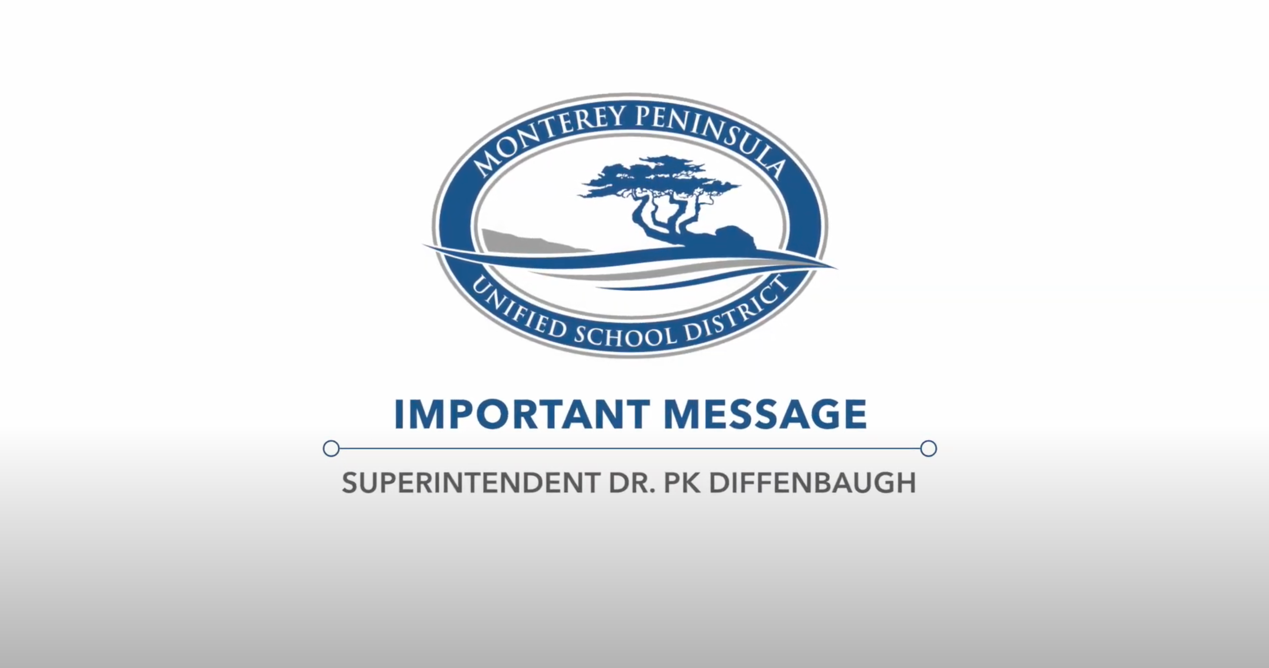 Spanish Video Message from the Superintendent
