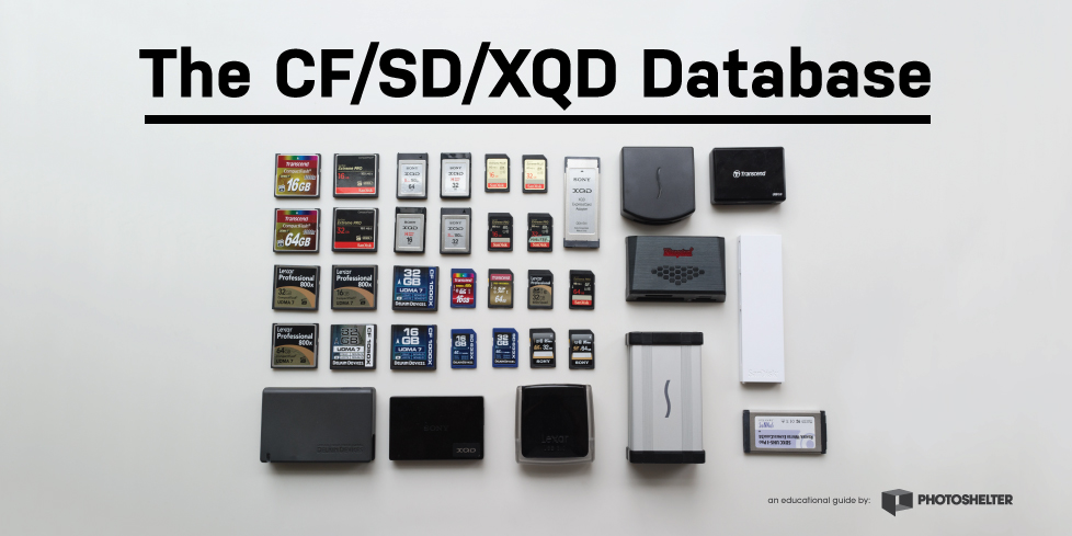 CF/SD/XQD Database Guide