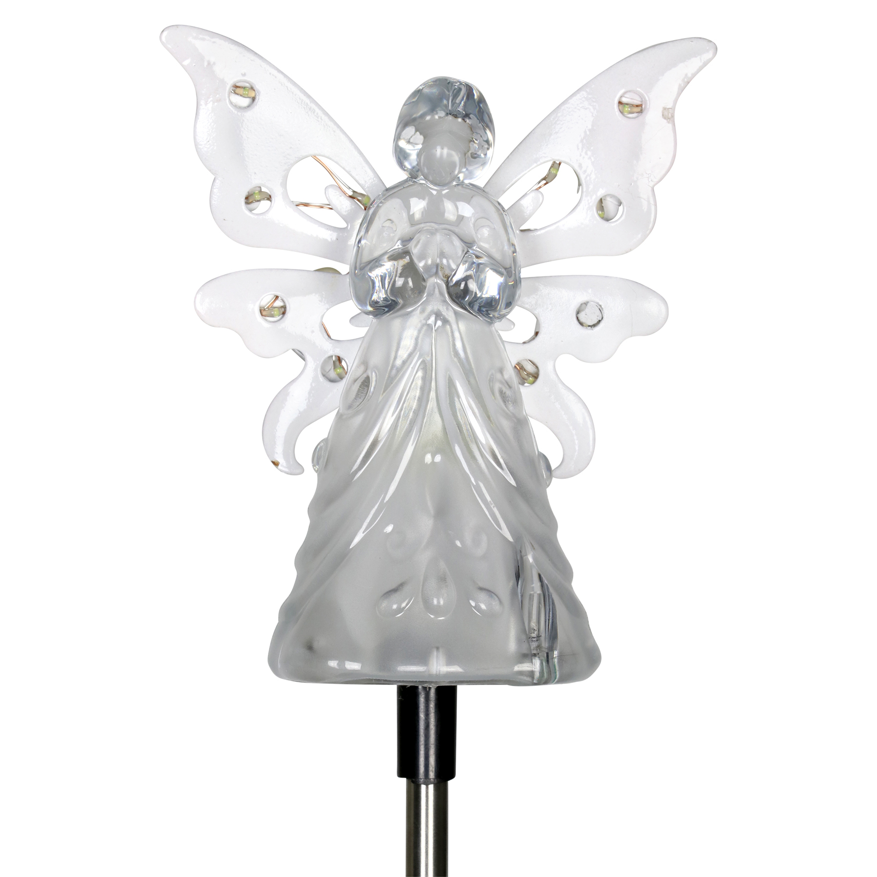 Solar White Angel Garden Stake