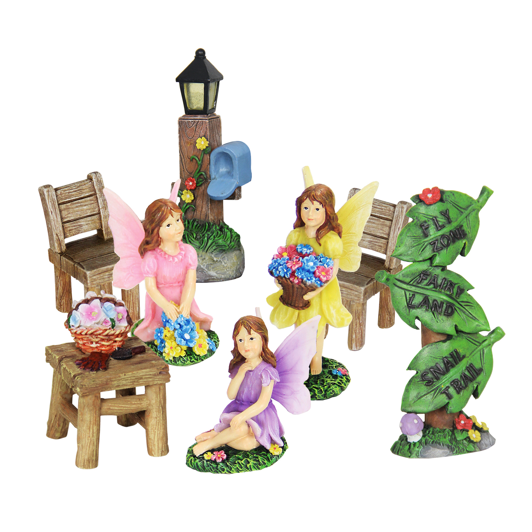 8pc Mini Fairy Garden Set