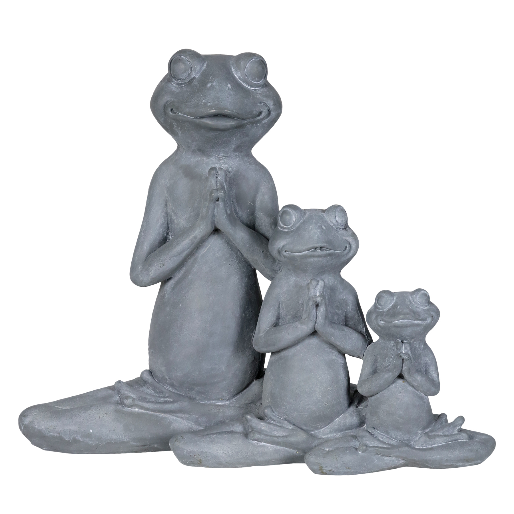 Three Lotus Posing Frogs Statue