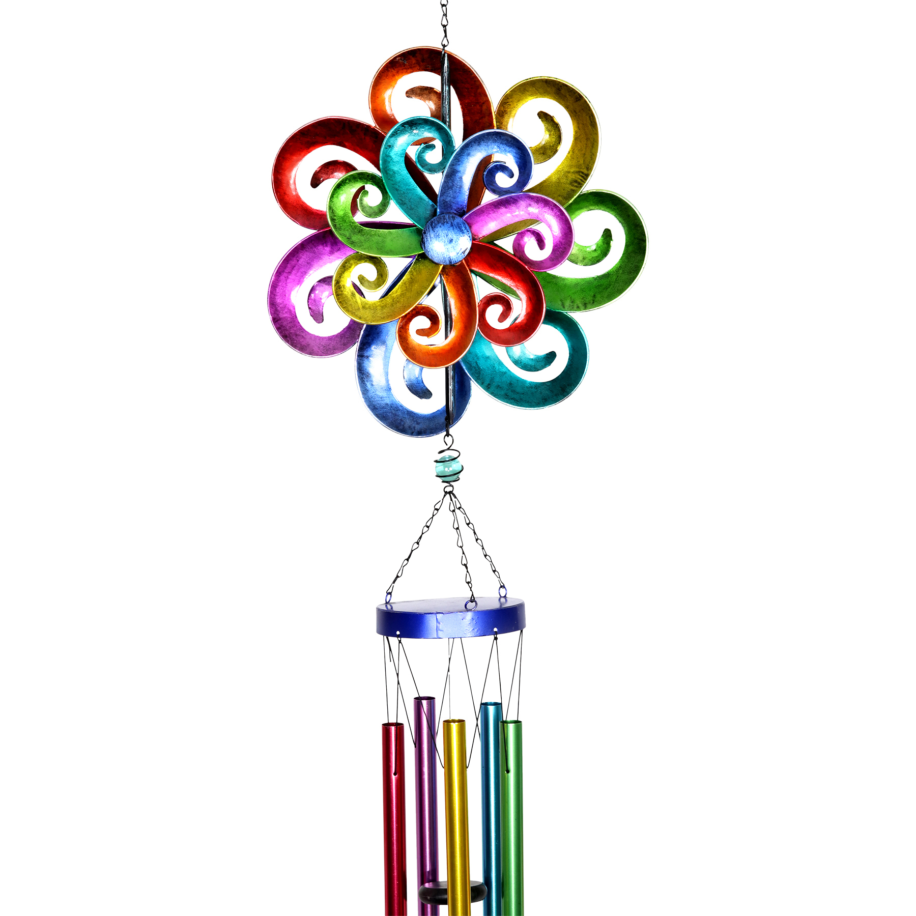 Rainbow Spinning Wind Chime