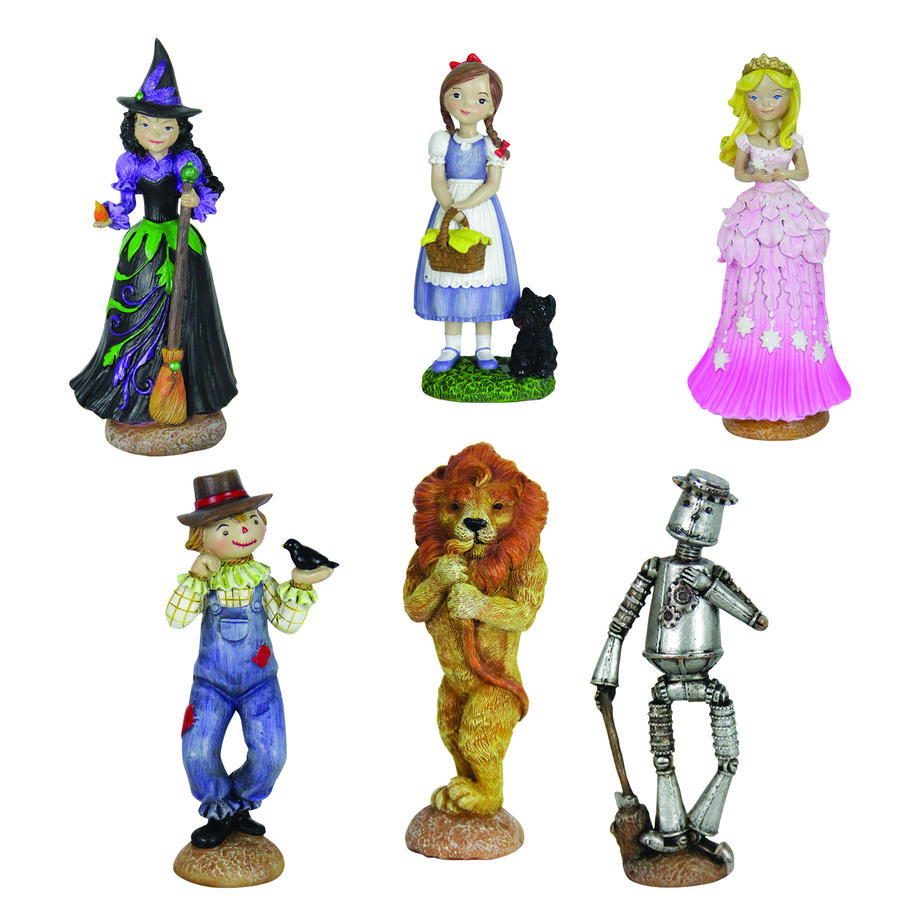 6pc Oz Land Mini Fairy Tale Garden Set