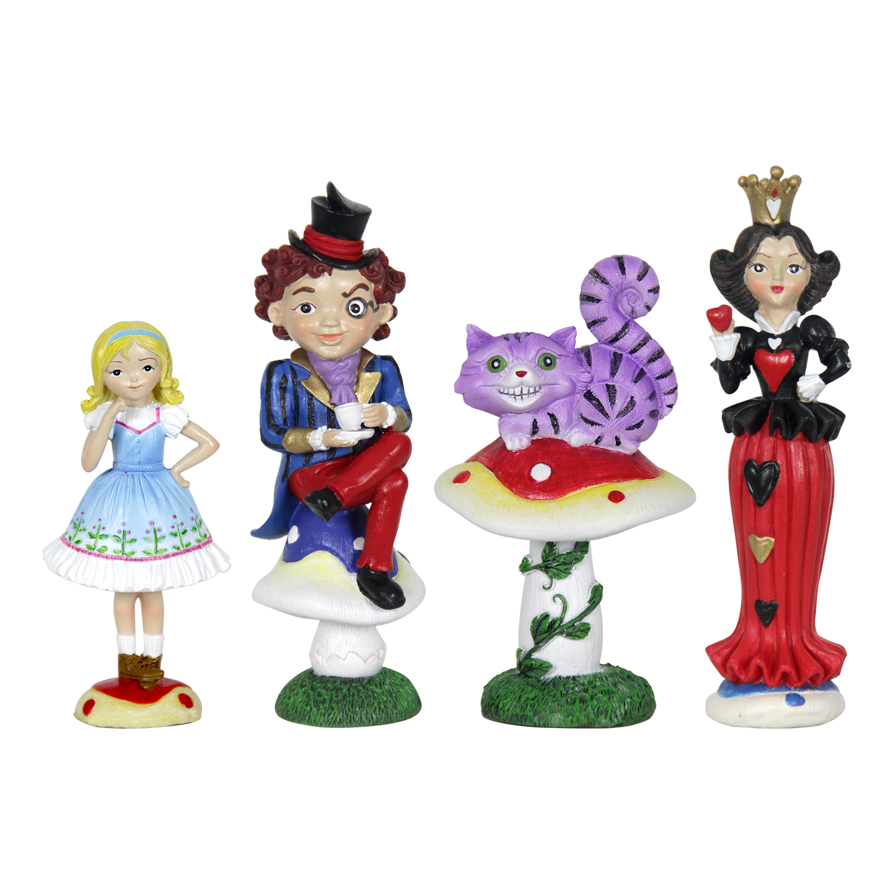 4pc Wonderland Mini Fairy Tale Garden Set