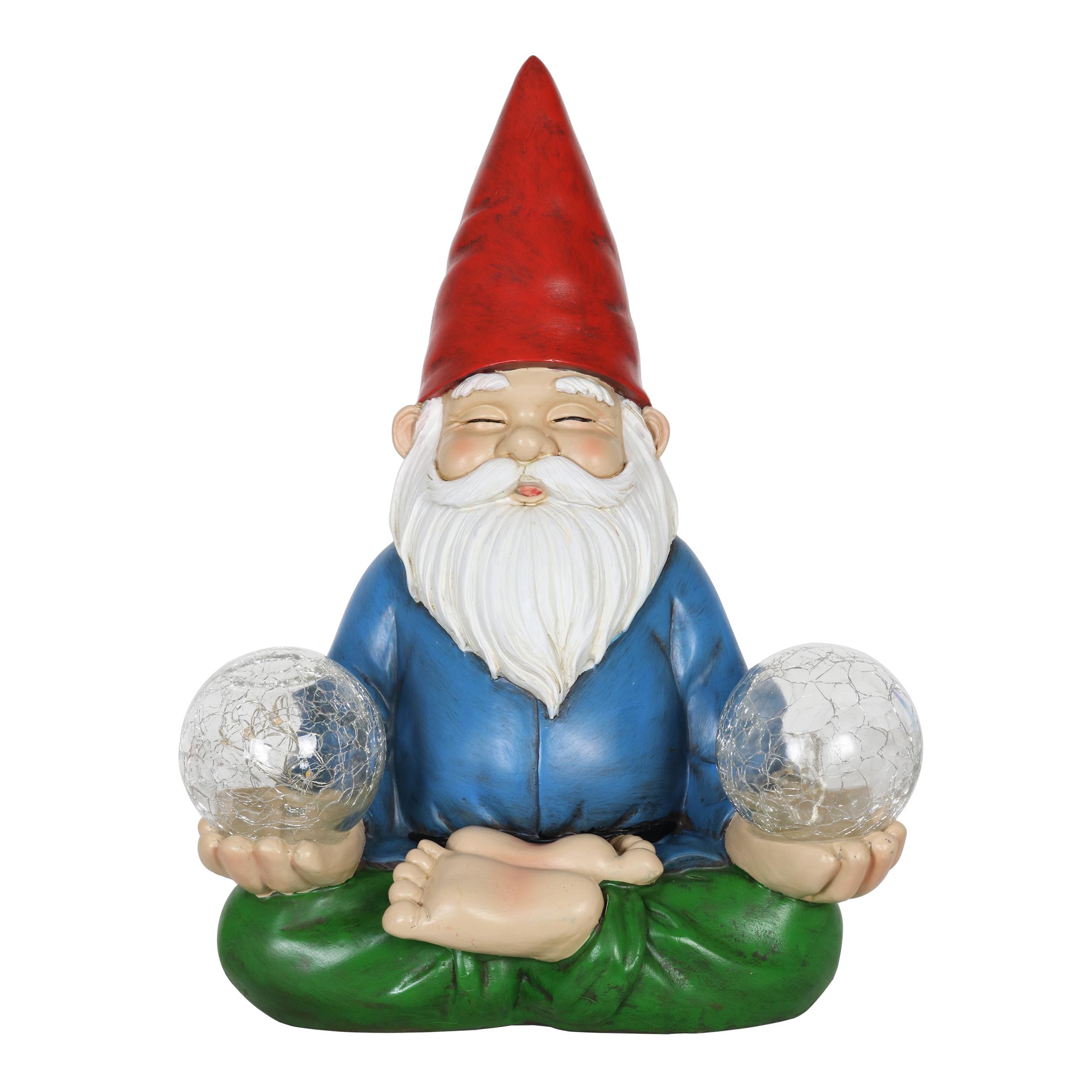 Solar Yoga Gnome Statue