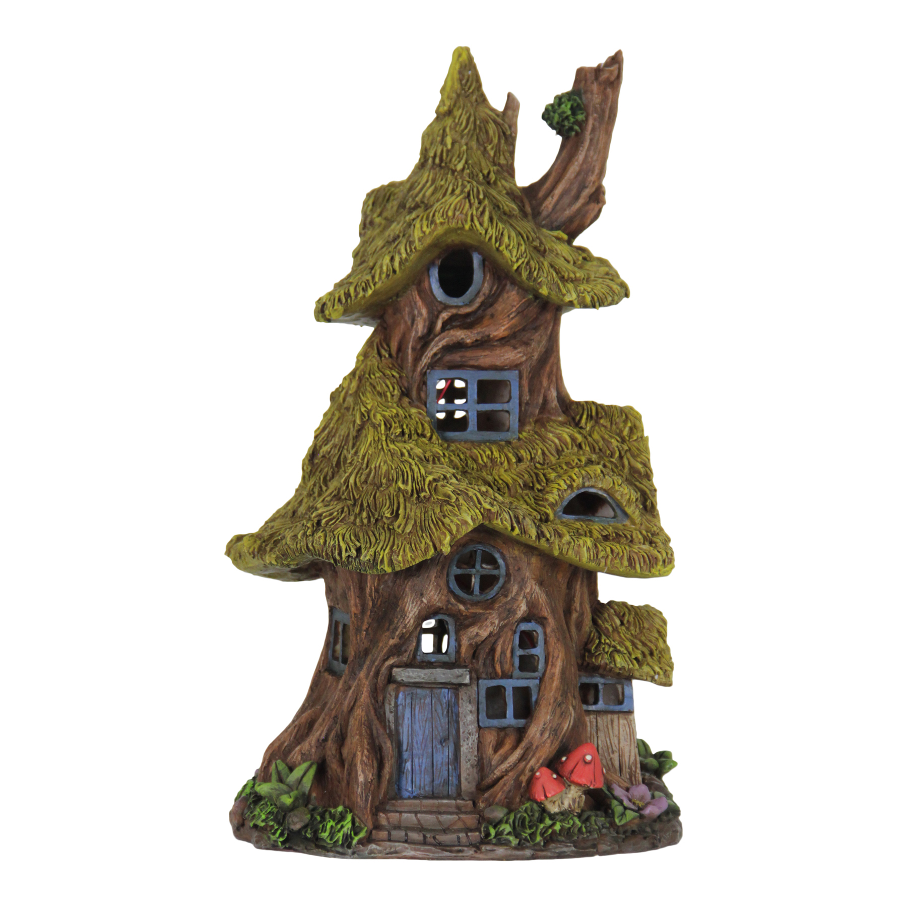 Solar Thatch Roof Fairy Tree House