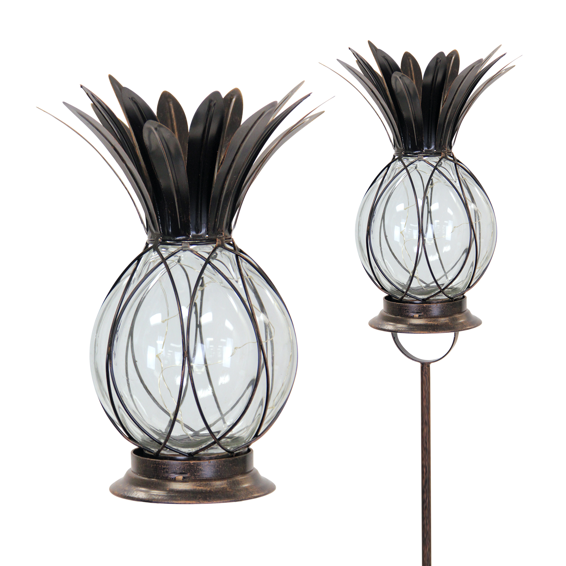 Sensational Solar Bronze Pineapple Stake Lantern Download Free Architecture Designs Boapuretrmadebymaigaardcom