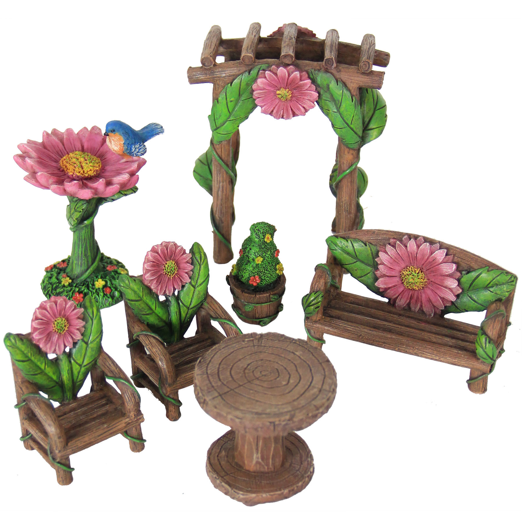 Miniature Pink Fairy Garden Set