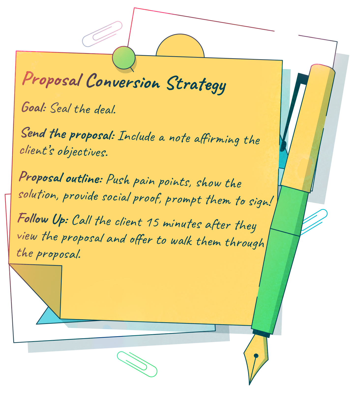 proposal conversion strategy checklist