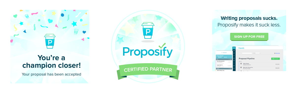 new proposify brand collateral