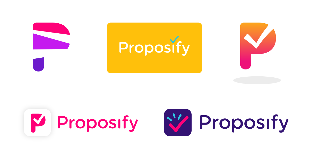 new proposify early logos
