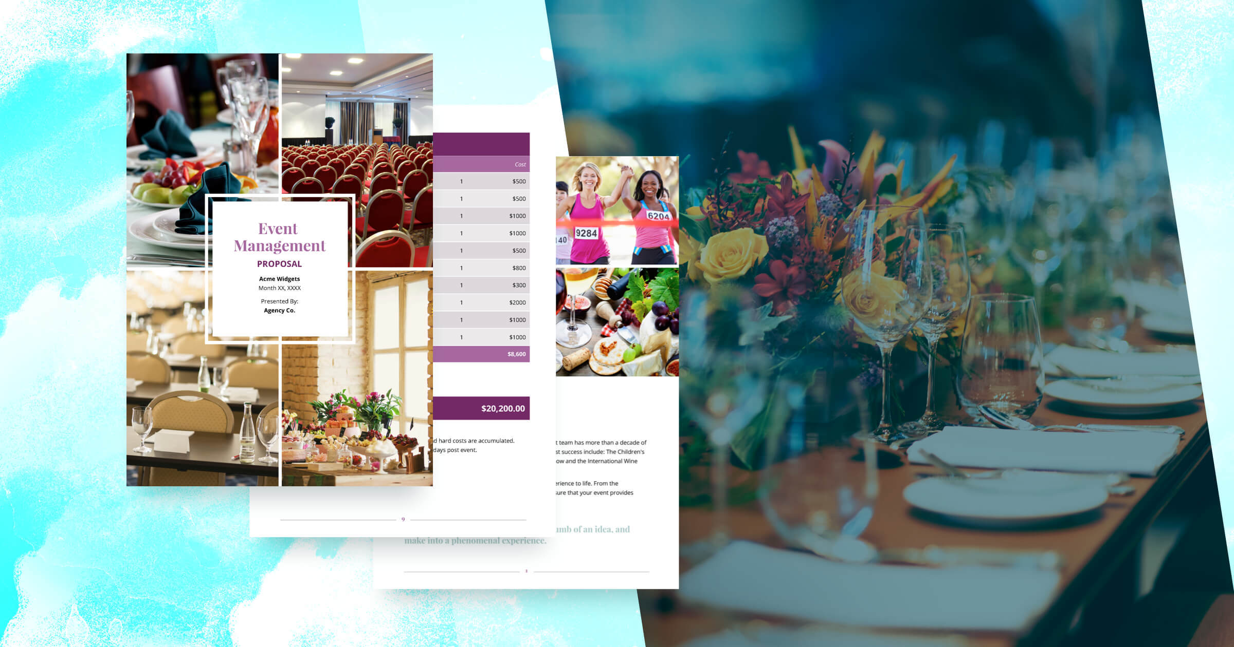 Event Management Proposal Template Free Sample - Makeup artist invoice template free online vapor store