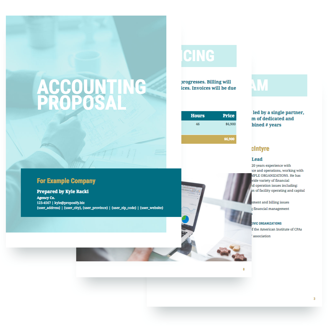 Accounting proposal template free sample for Free bookkeeping brochure templates