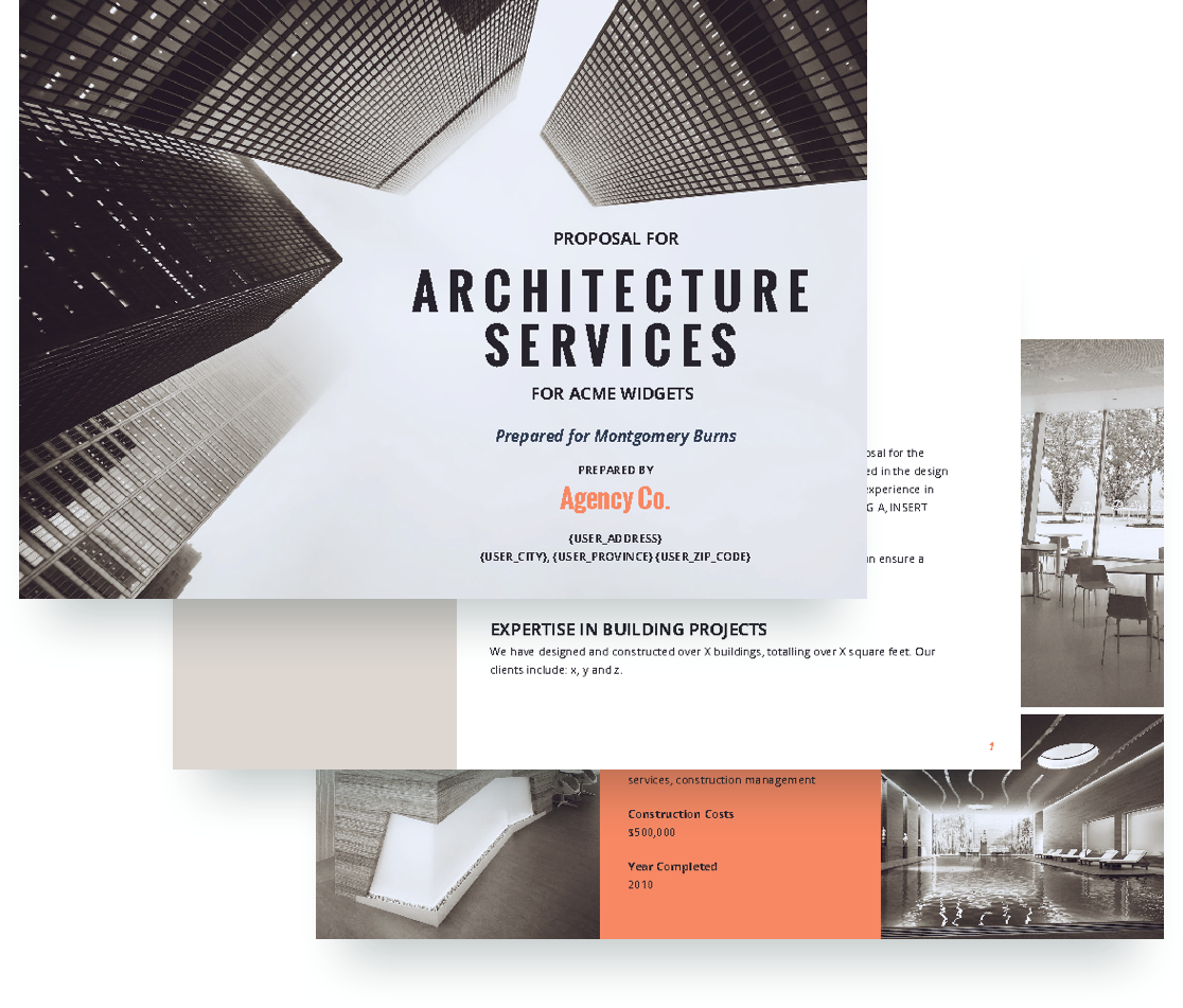 Architecture proposal template free sample for Architectural design services