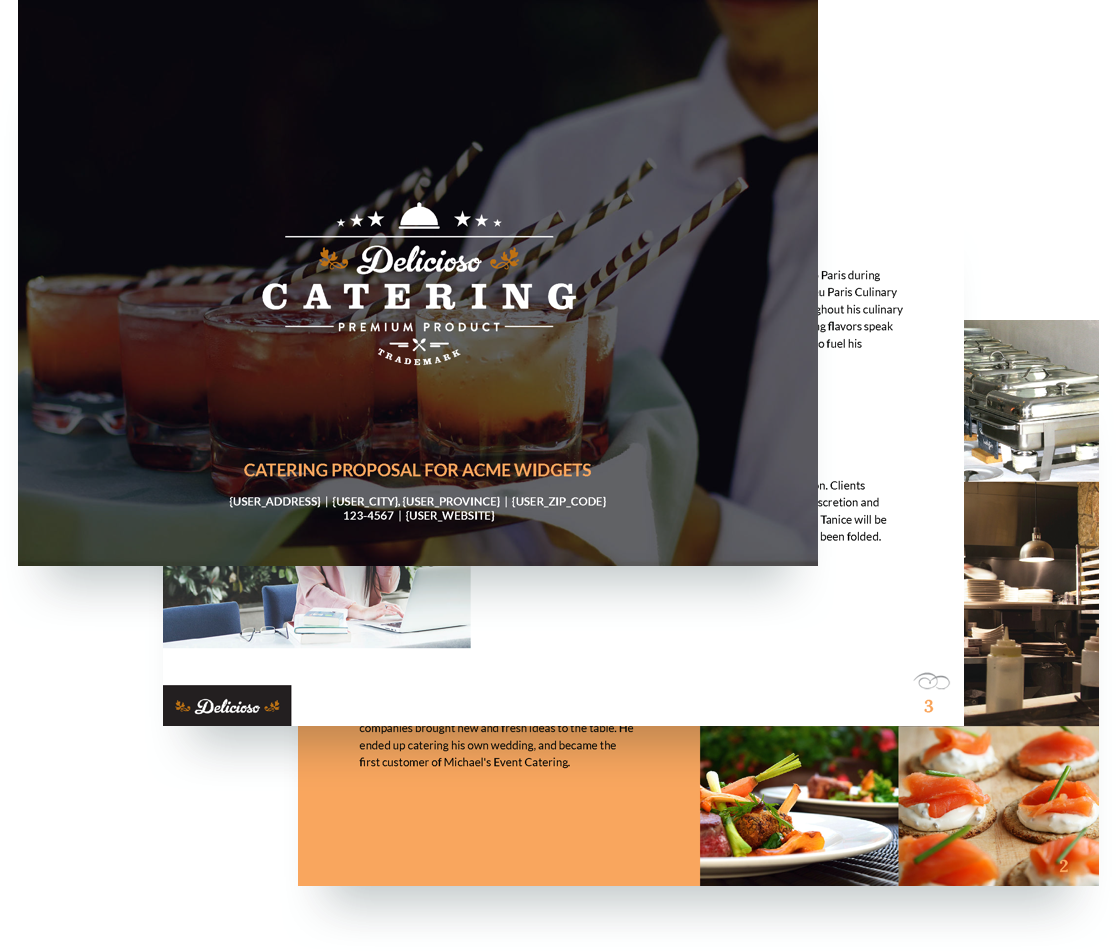 Catering proposal template free sample for Catering email template