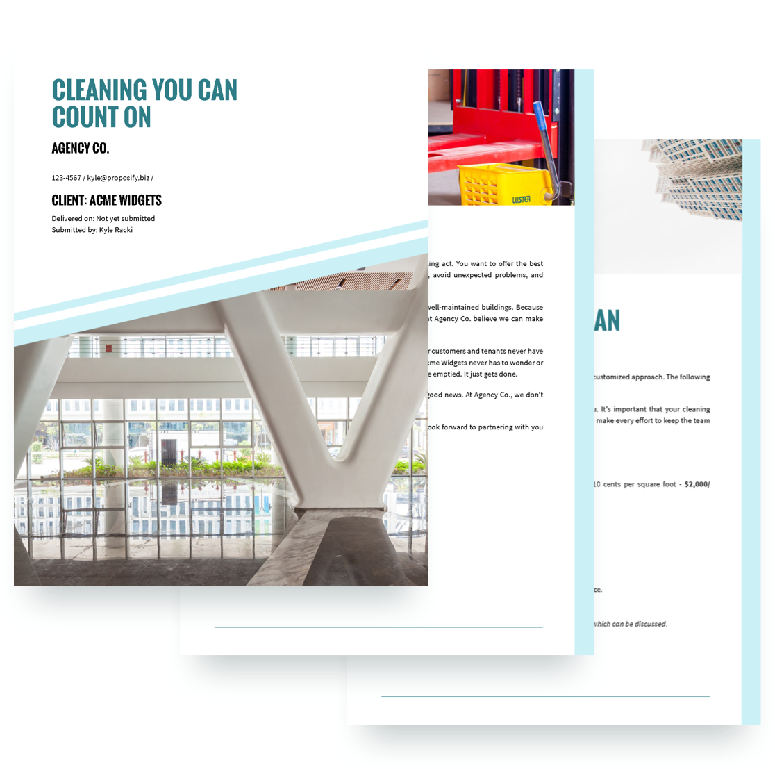 Cleaning Services Proposal Template Free Sample
