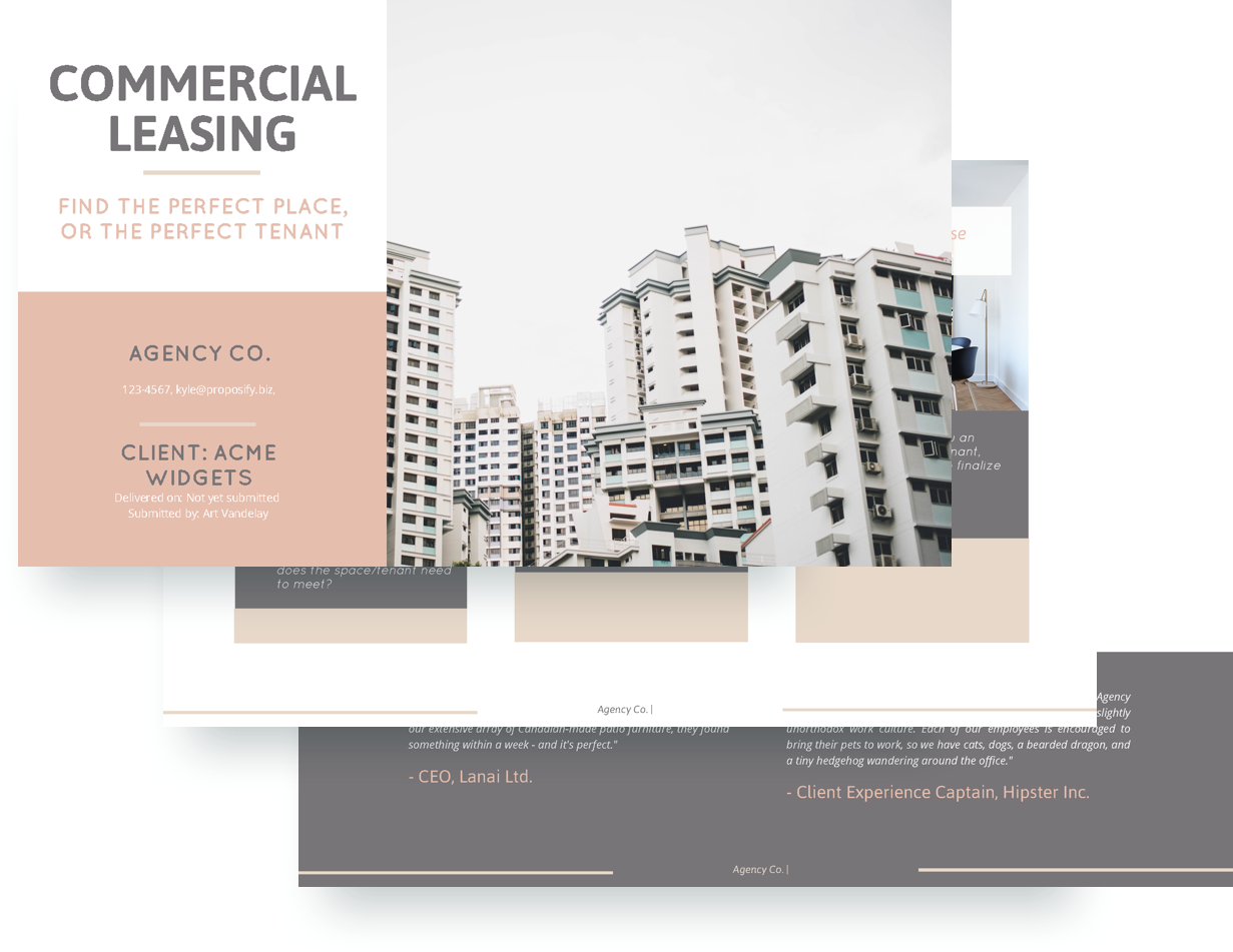 Commercial Lease Proposal Template  Commercial Proposal Template