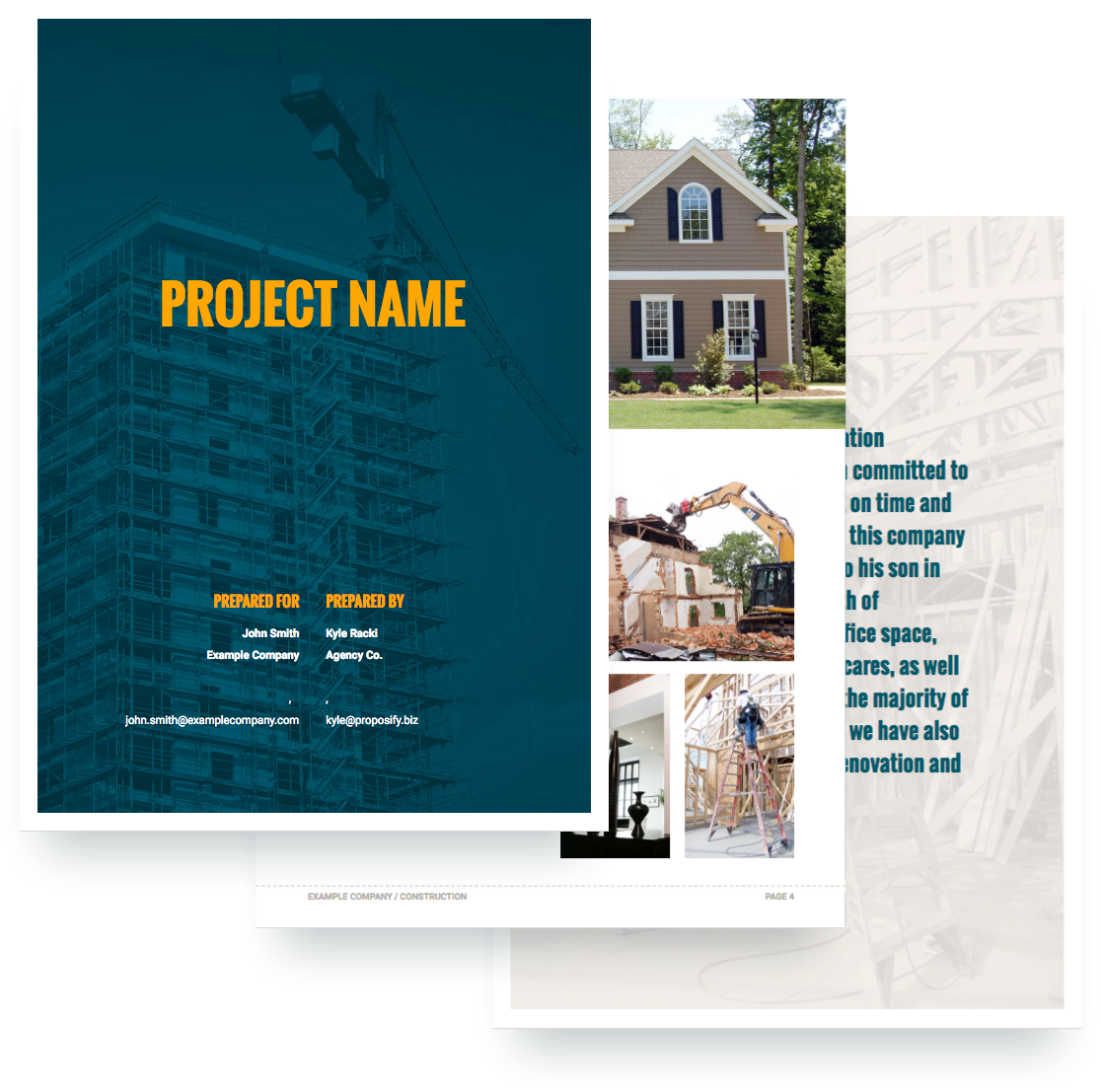 Construction Proposal Template Free Sample