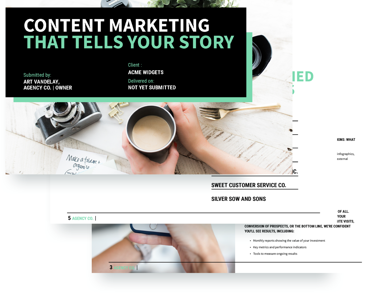 Content Marketing Proposal Template  Marketing Proposal Templates