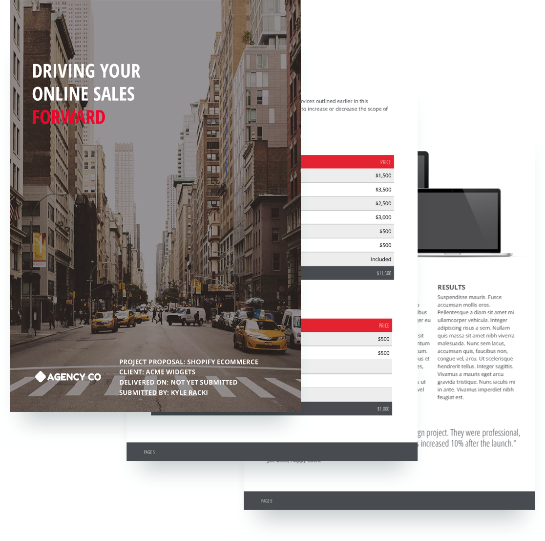 E Commerce Proposal Template  Proposal Layouts