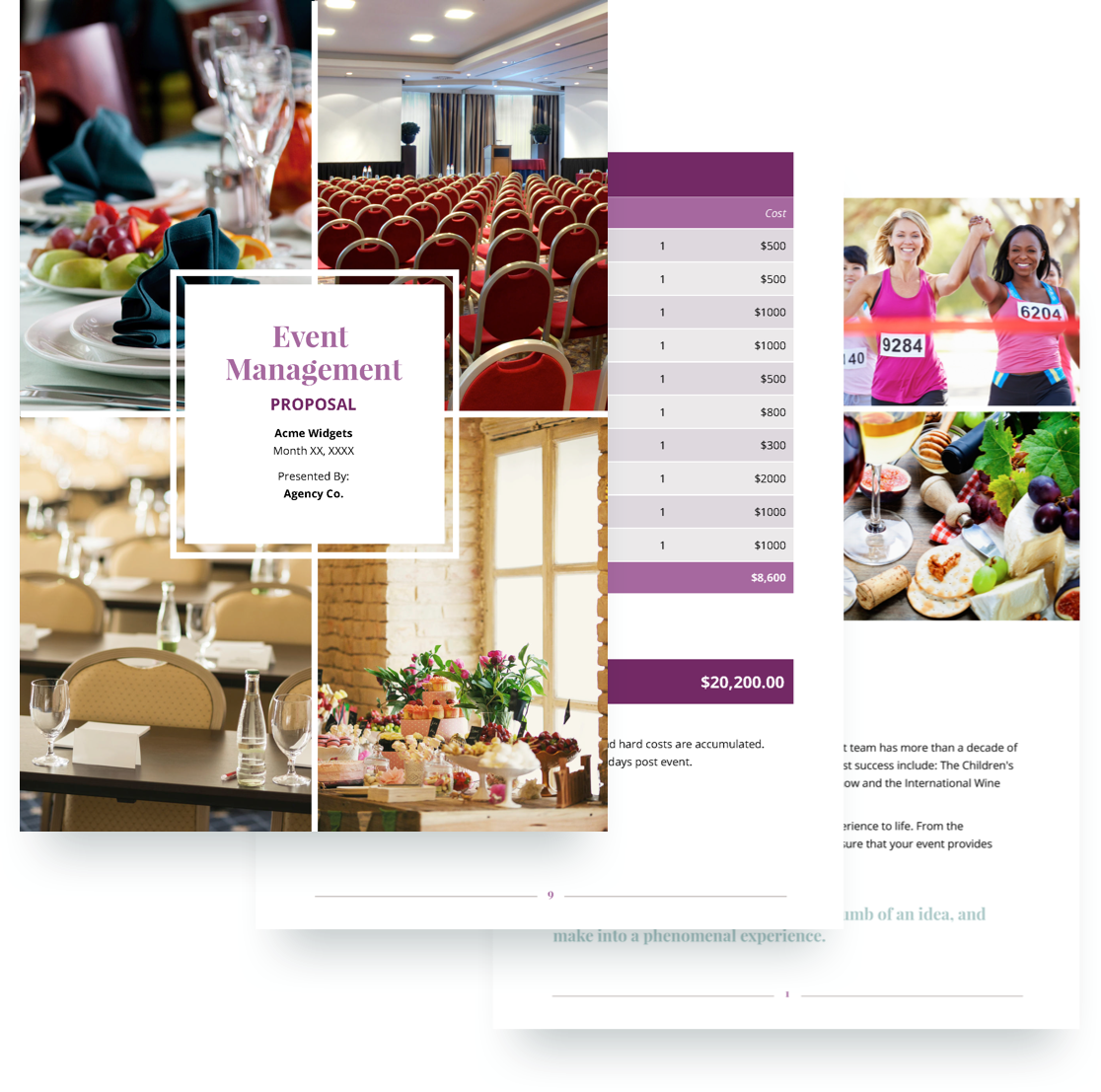 Event Management Proposal Template Free Sample