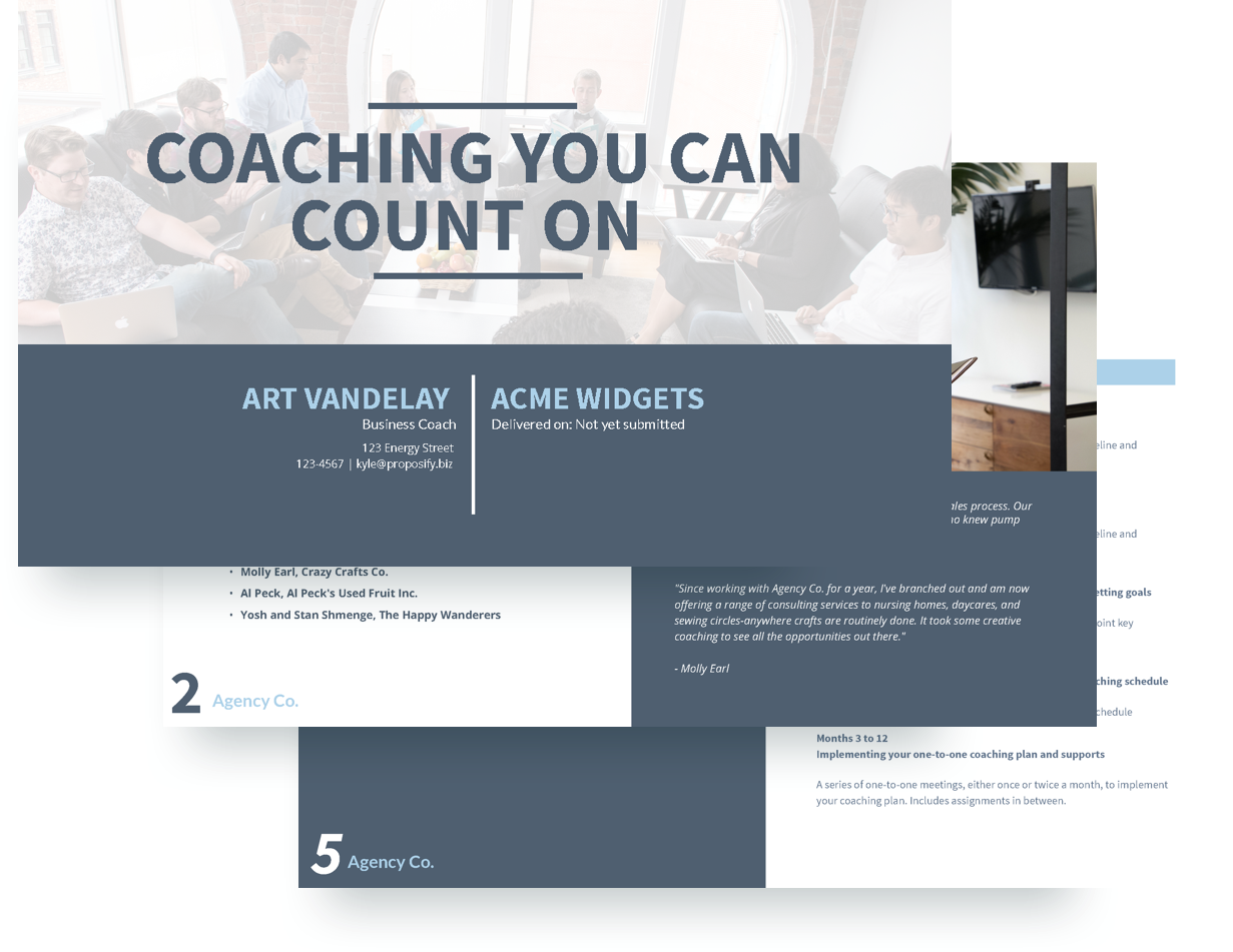 Executive coaching proposal template free sample for Coaching contracts templates