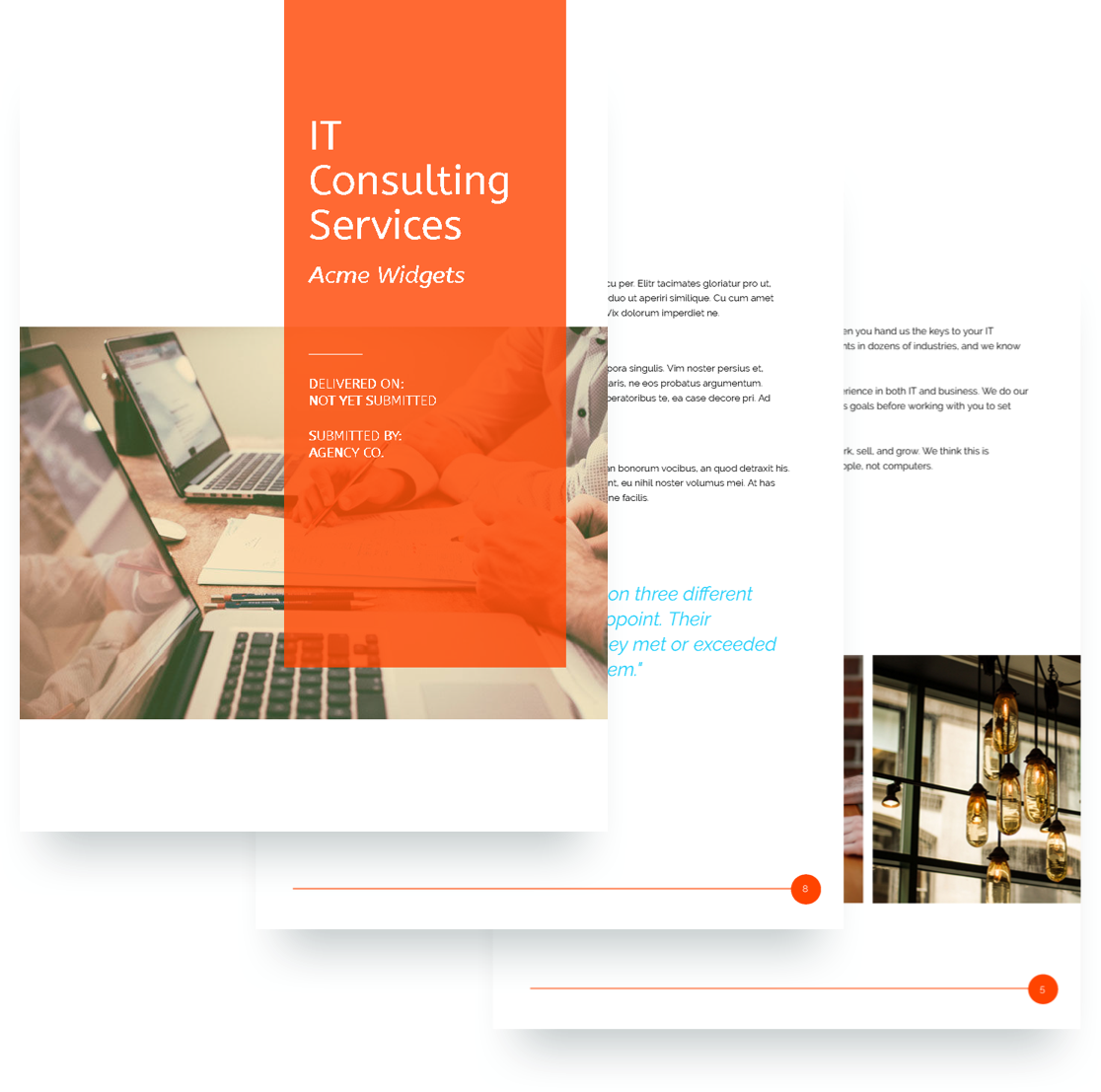 IT Services Proposal Template  Proposal Of Services Template