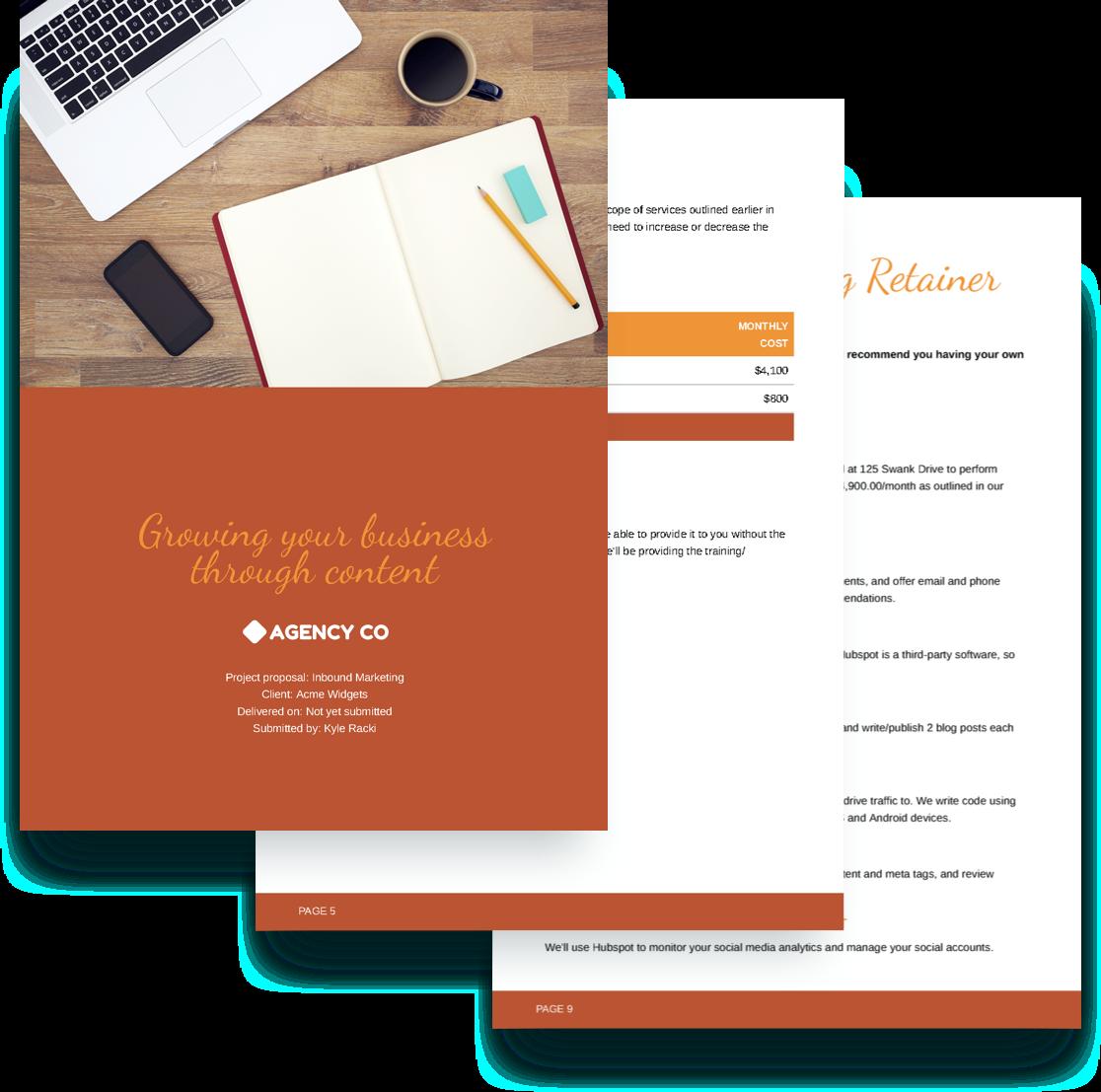 Inbound Marketing Proposal Template Free Sample – Sample Marketing Proposal Template