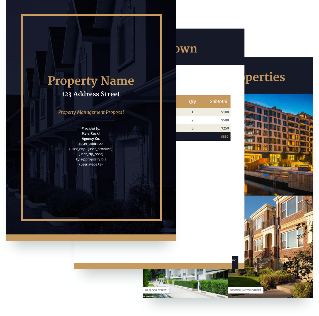 Delightful Property Management Proposal Template