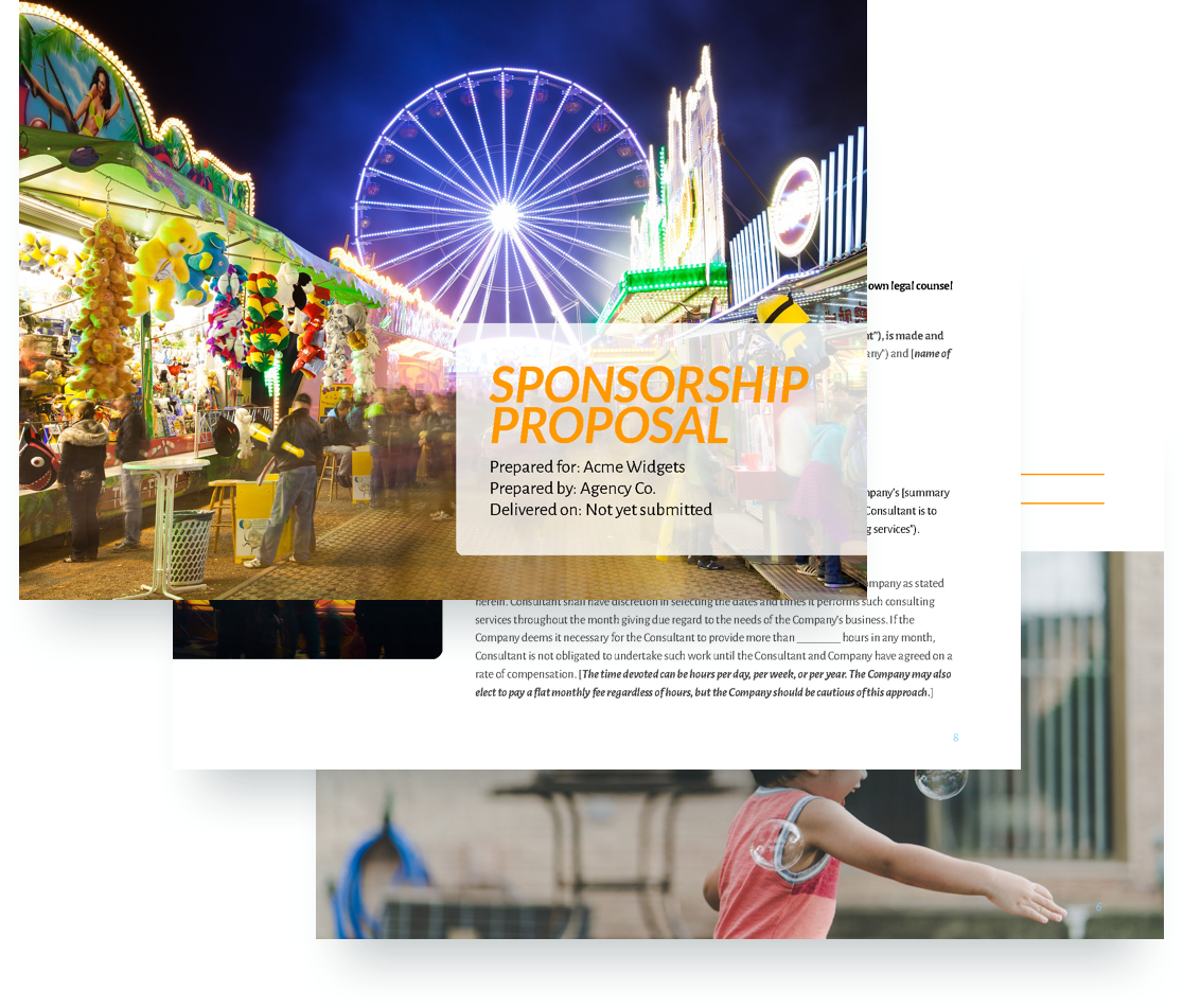 Sponsorship Proposal Template  Example Of A Sponsorship Proposal