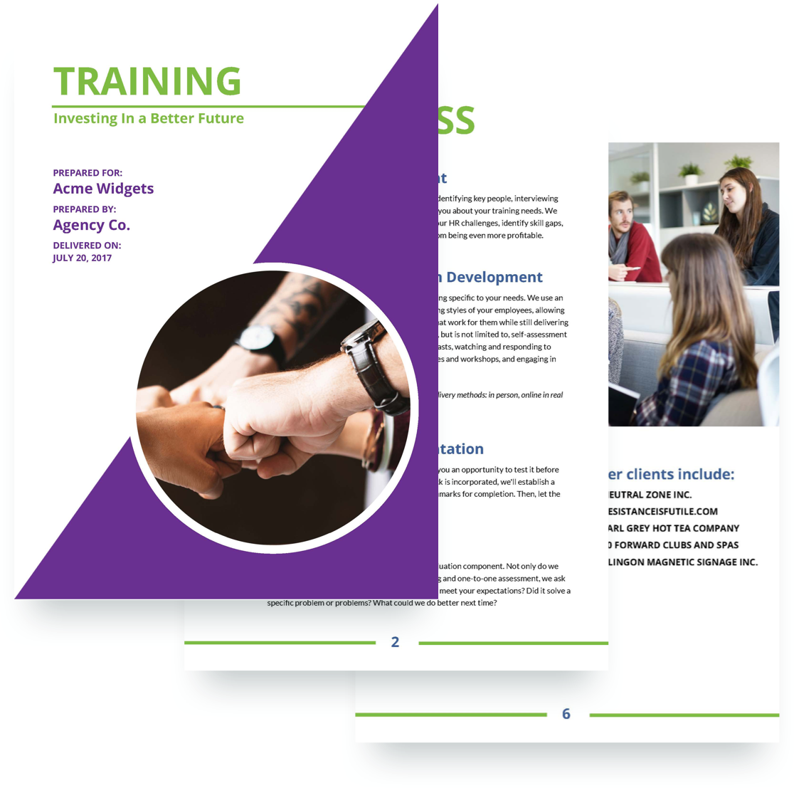 Charming Training Proposal Template