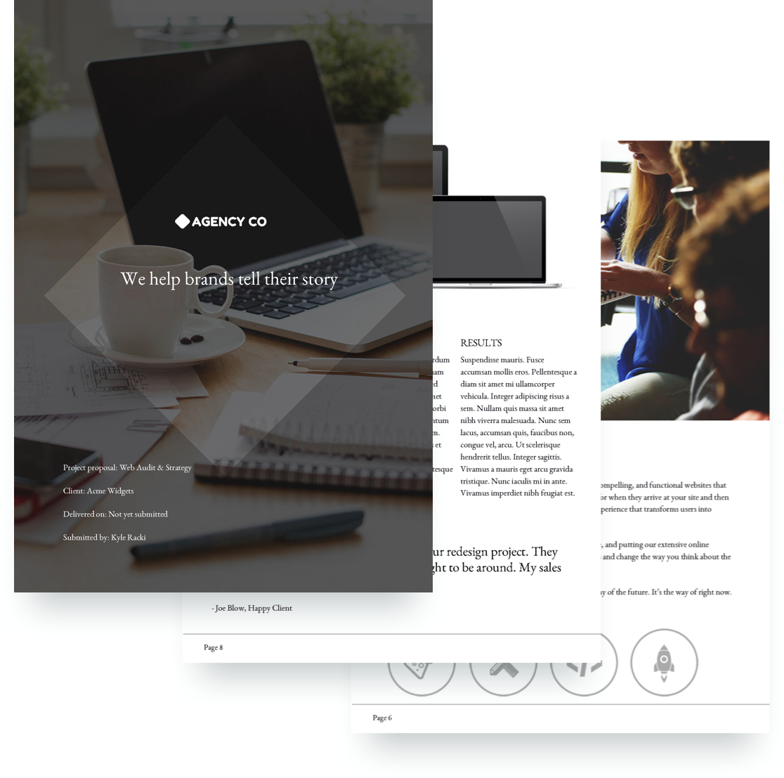 Web Strategy Proposal Template - Free Sample
