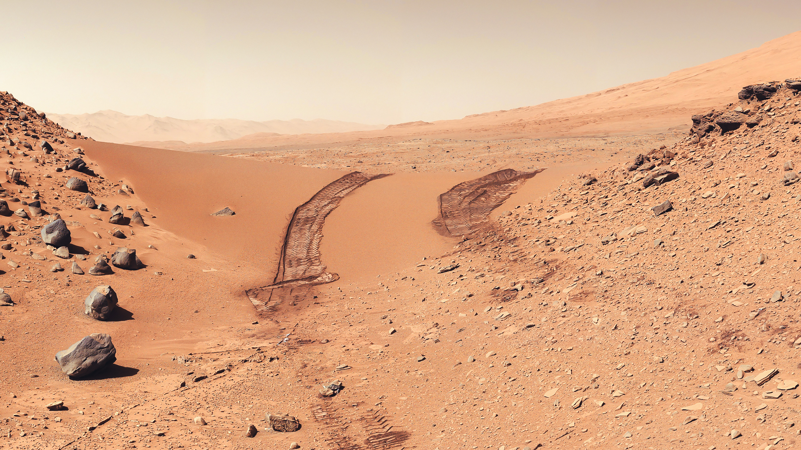 curiosity rover on mars background - photo #27