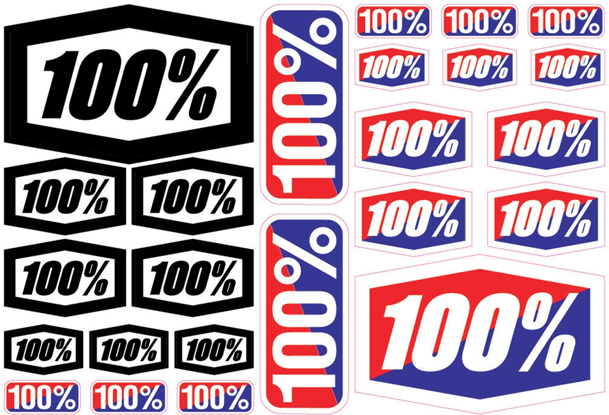 100% 100% Sticker Kit