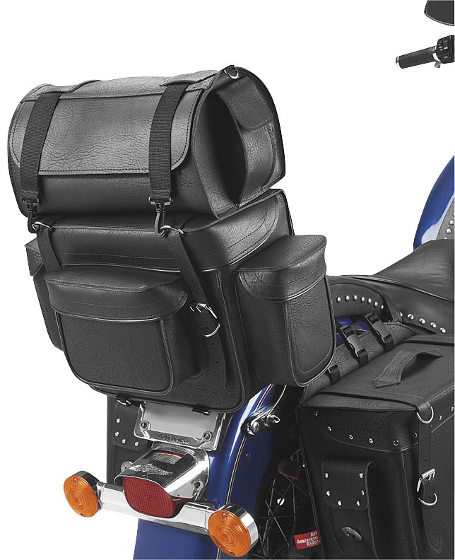 All American Rider Ameritex Bikepack with Detachable Travel Case/Sissy Bar Bag